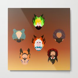Dany Team Icons Metal Print