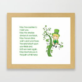IRISH PRAYER Framed Art Print