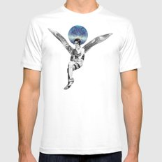 DAVID BOWIE ANGEL Mens Fitted Tee White MEDIUM