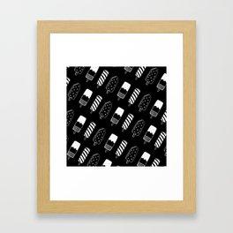 Summer Ice Lollies (Black) Framed Art Print