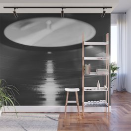 Record (Black and White) Wall Mural