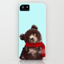 Baby bear in Christmas Mood iPhone Case