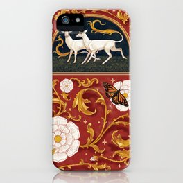 There are unicorns in the garden iPhone Case