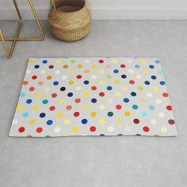 Random Multicolor Polka Dots Rug