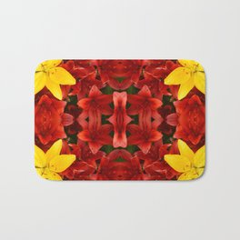"""A Gathering of Lilies"" Remix - 1 (2-1) [D4465~12] Bath Mat"