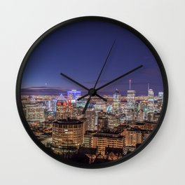 Montreal Night Moves Wall Clock