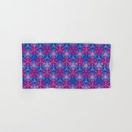 D20 Icosahedron Mandala Pattern Hand & Bath Towel