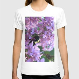 Busy Bee in Lilac Art Photography T-shirt