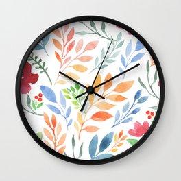 Sweet Flowers Wall Clock
