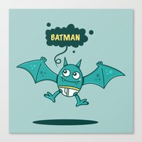 bat man Canvas Prints featuring Bat Man Bat by Drew