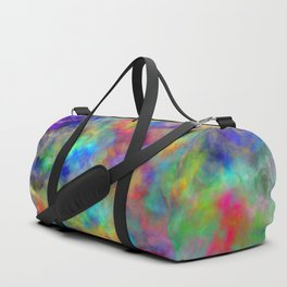 Abstract bright colorful watercolor brushstrokes pattern Duffle Bag