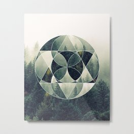 Geometric Forest Metal Print