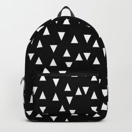Black and white triangle desgn in minimal style Backpack
