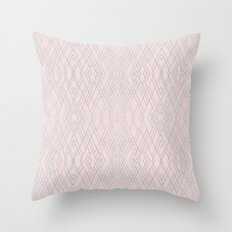 Art Deco Pink and Silver Throw Pillow