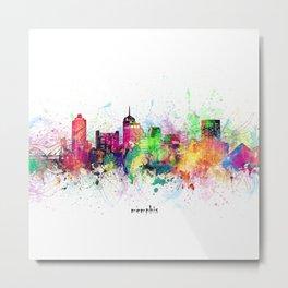 memphis skyline artistic Metal Print