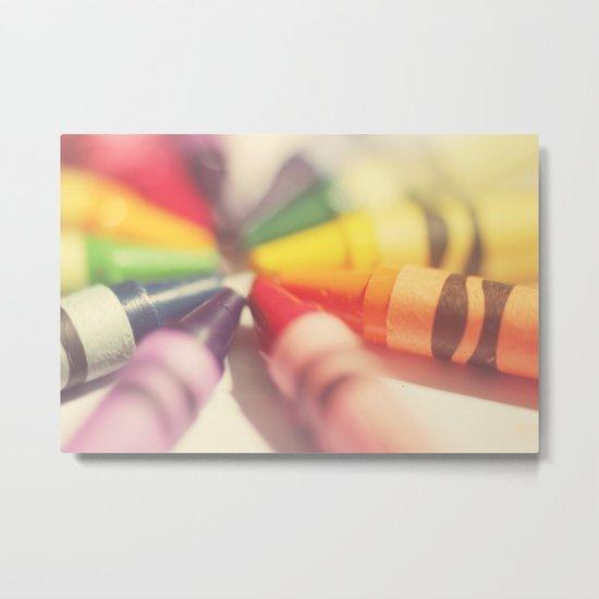 Crayon Love: Color Explosion Metal Print
