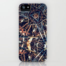 Patterned Pine No:1 iPhone Case