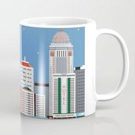 Louisville, Kentucky - Skyline Illustration by Loose Petals Coffee Mug