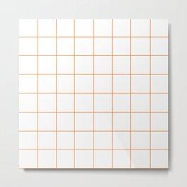 WINDOWPANE ((tangerine)) Metal Print