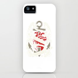Heart Anchor Captain Sailing Love Heart Gift iPhone Case
