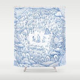 """Can You Spot Spirit"" Woods Theme Shower Curtain"