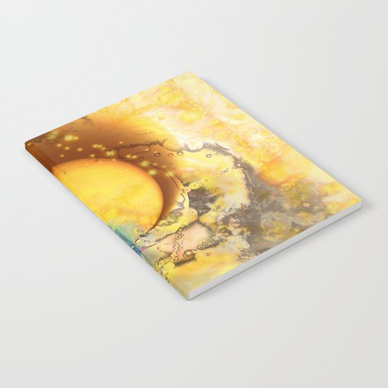 Abstract texture yellow 1 Notebook