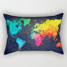 World map watercolor 6 Rectangular Pillow