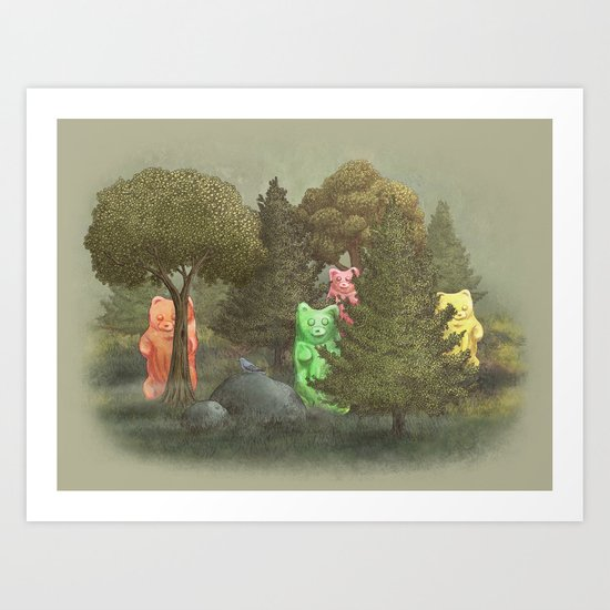 Wild Gummy Bears Art Print