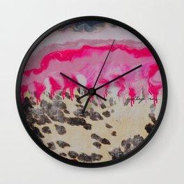 cosmic pink agate bomb Wall Clock