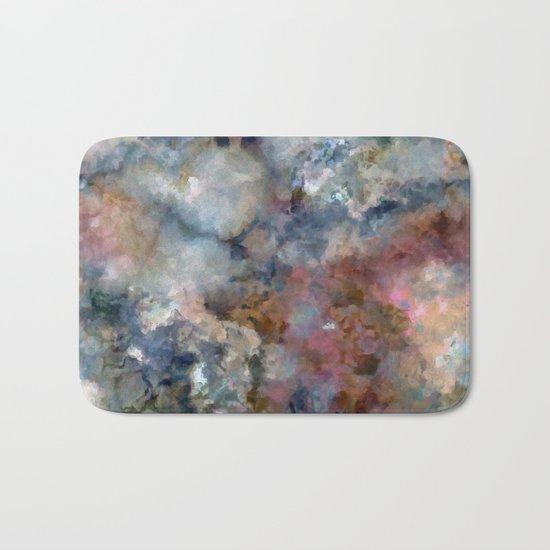 Colorful watercolor nebula onyx Bath Mat