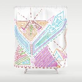 PowerLines 21 Shower Curtain