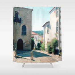 Obidos, Portugal(RR178) Analog 6x6 Kodal Ektar 100 Shower Curtain