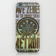 Save Zebes! Metroid Geek Art Vintage Poster iPhone 6s Slim Case