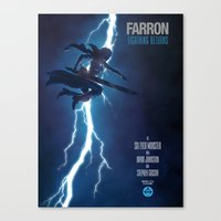 returns Canvas Prints featuring Lightning Returns by Six Eyed Monster