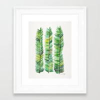 gold Framed Art Prints featuring Seaweed by Cat Coquillette