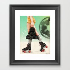 Skate Wars - Galactic Empire Framed Art Print
