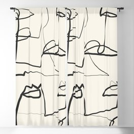 Abstract line art 12 Blackout Curtain