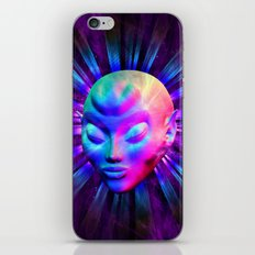 Alien Meditation on Rainbow Colors iPhone & iPod Skin