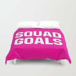 Squad Goals (Magenta Background) Duvet Cover