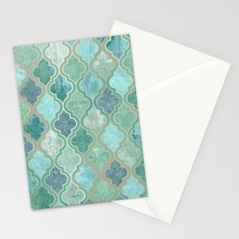 Moroccan Teal Green Stationery Cards