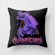 Quadricorn Throw Pillow