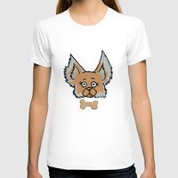 yorkie T-shirts featuring New Yorkie by Brianna Heyer