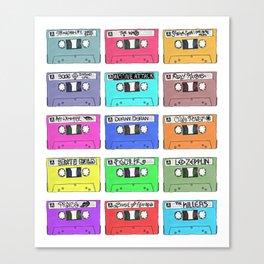 Cassettes - My Favourite Artists Canvas Print