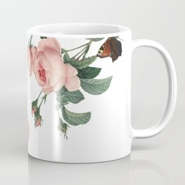 Butterflies in the Rose Garden on White Coffee Mug