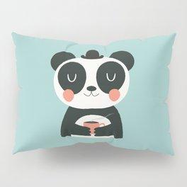 Panda Loves Coffee Pillow Sham