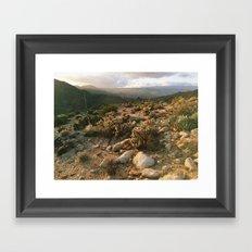 Borrego Desert Sunset Framed Art Print