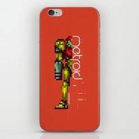 metroid iPhone & iPod Skins featuring Metroid by Slippytee Clothing