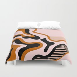 Beautiful Journey - Caramel and Cream Duvet Cover