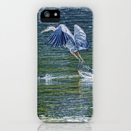 Heron's Leap - Great Blue Heron iPhone Case