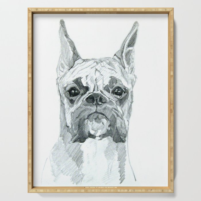 The Boxer Dog Miley Serving Tray